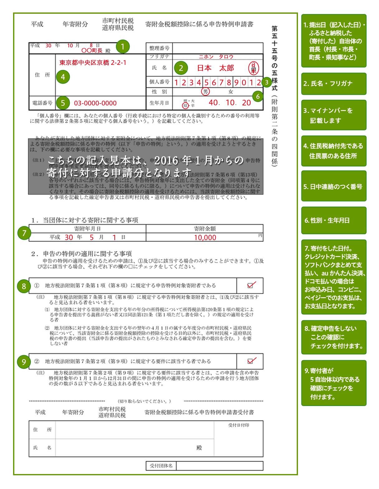 トップ ふるさと 申請 書 納税 特例 の ワンス
